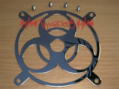Общий вид решетки Revoltec Fangrill 120 mm с крепежными винтами