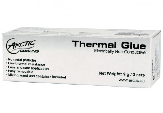 Общий вид упаковки термоклея G-1 Thermal Glue от Arctic Cooling