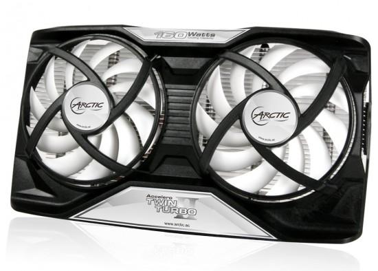 Общий вид кулера Arctic Cooling Twin Turbo II для видеокарт