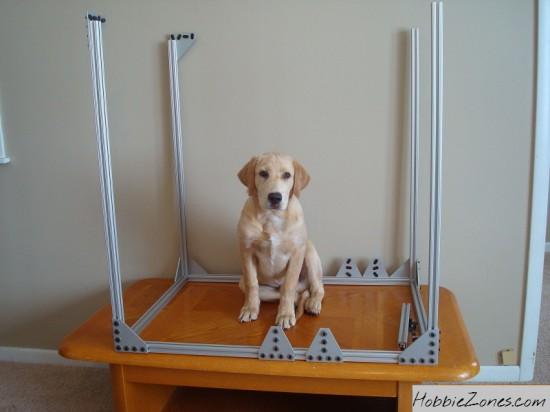 Собака не является частью проекта, но позволяет судить о его размерах