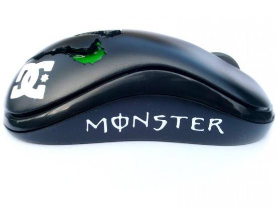 Вид сбоку на модифицированную мышь Monster Mod II