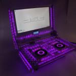 Проект со включенной пурпурной подсветкой
