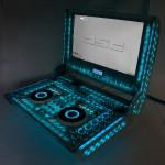 Проект со включенной голубой подсветкой