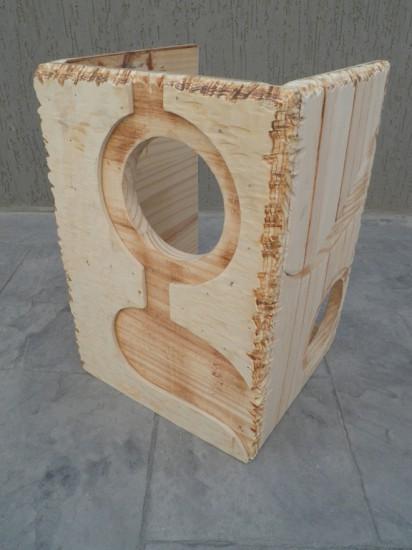 Часть будущего проекта Ghetto Art, выполненная из дерева