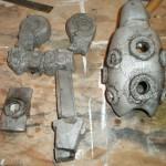 Детали отлитые из алюминия до их обработки