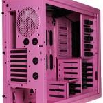 Вид сзадни на розовый NZXT Phantom