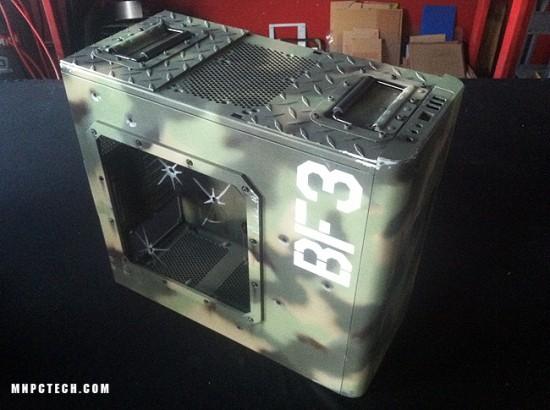 Вид в три четверти на проект Battlefield 3 case mod