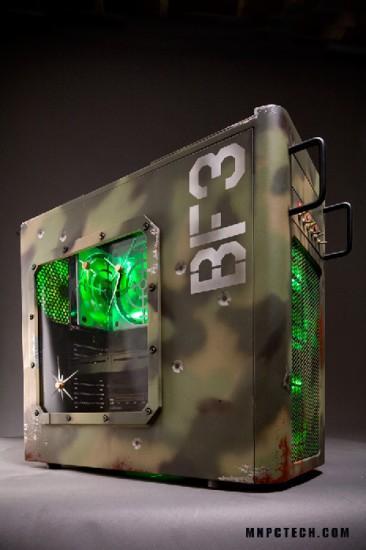Общий вид слева на моддинг проект Battlefield 3 case mod