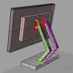 Схема конструкции корпуса для монитора