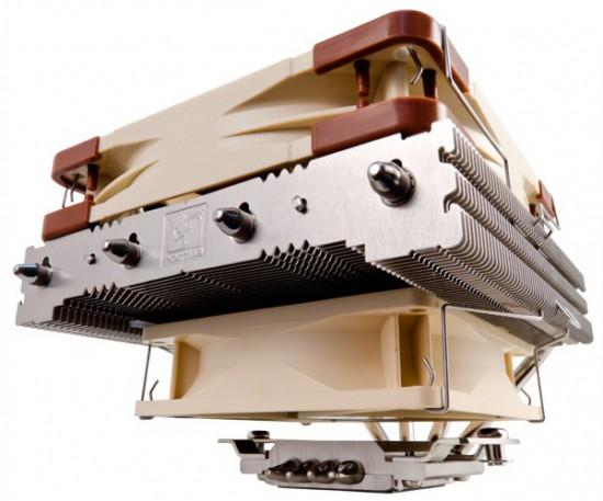 Общий вид кулера Noctua NH-L12 с обеими вентиляторами