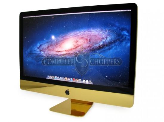 Позолоченный компьютер Apple iMac от моддинг студии Computer Choppers