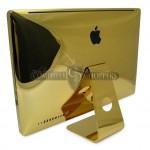 Вид сзади на позолоченный iMac