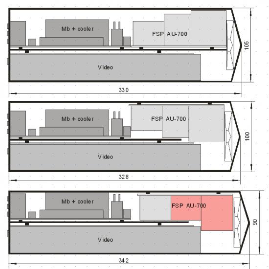 Варианты компоновки комплектующих внутри корпуса