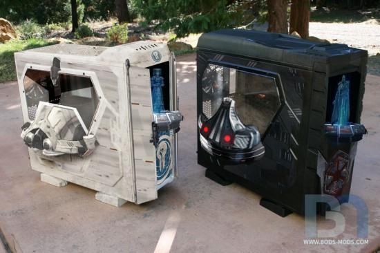 Будущий вид обеих корпусов в проекте Star Wars Old Republic Case Mods