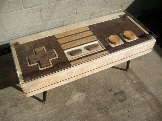 Общий вид кофейного столика Nintendo Controller Coffee Table