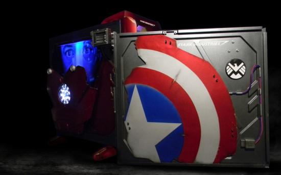 Щит Капитана Америки на внутренней стороне снятой стенки