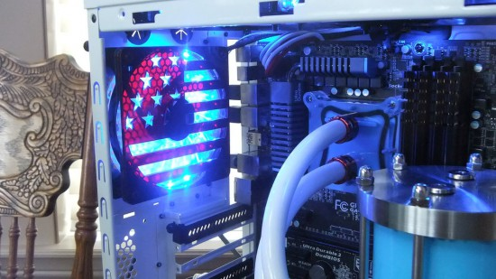 Кастомный гриль в виде флага США