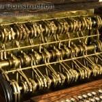 Вид вблизи на «механическую счетную машину»