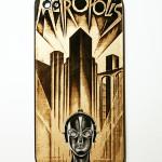 Задняя панель с дизайном плаката к классическую фильму Metropolis