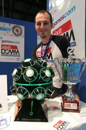 Bertram Brugner with his Black Sphere V2 modding project