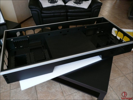 The upper part of the table with space for PC hardware