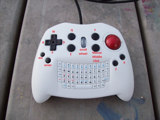 All of the controls on the top of KeyBall Controller V2