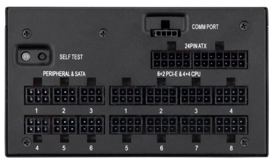 Modular connectors on Corsair's AX1200i PSU