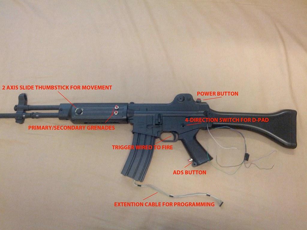 A custom assault rifle game controller | Modding Magazine