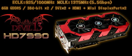 The main prize of the contest — PowerColor's HD 7990 Devil 13 6 GB video card