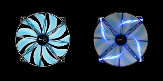 A blue version of the SilentMaster 200 case fan form AeroCool