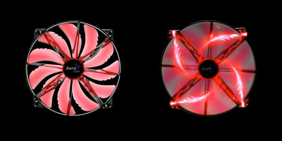 A red version of the SilentMaster 200 case fan form AeroCool