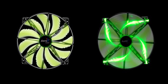 A green version of the SilentMaster 200 case fan form AeroCool