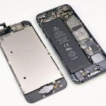 iPhone 5 with its display removed