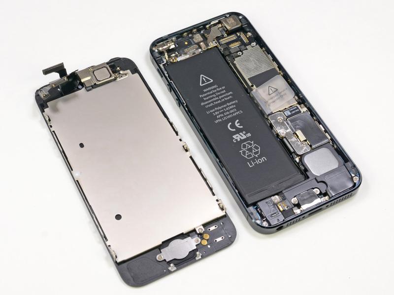 Новый iphone 5 уже разобрали