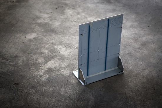 One of the elements of the enclosure's design, made of aluminum