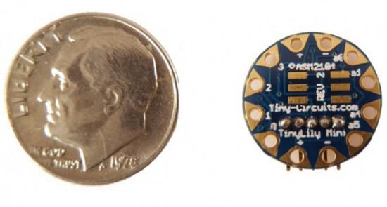 TinyLily Mini, 14 мм в диаметре (меньше одноцентовой монеты)
