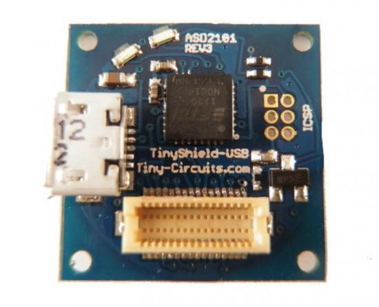 Плата расширения к TinyDuino, отвечающая за подключение к USB
