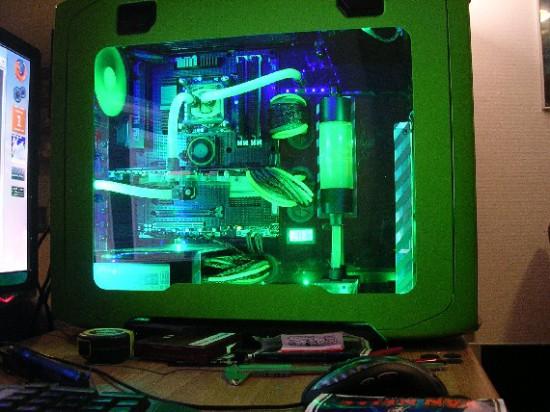 Моддинг проект Corsair 600T GREEN от моддера FiXeL