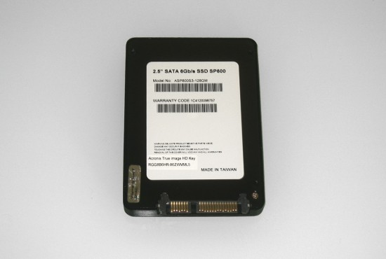 Back side of the Premier Pro SP600 solid-state drive