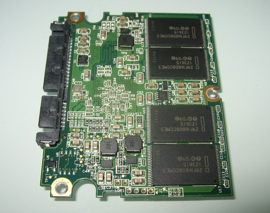 Chips on the back side of the PCB