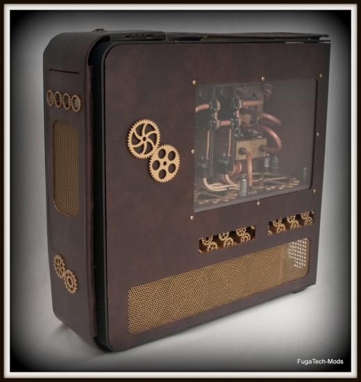 Общий вид моддинг проекта Steampunk'd TJ11 в три четверти
