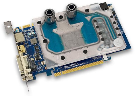 Фулкавер ватерблок EK Water Blocks EK-FC660 GTX, установленный на видеокарте