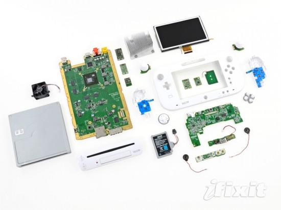 Компоненты игровой консоли Nintendo Wii U и ее геймпада