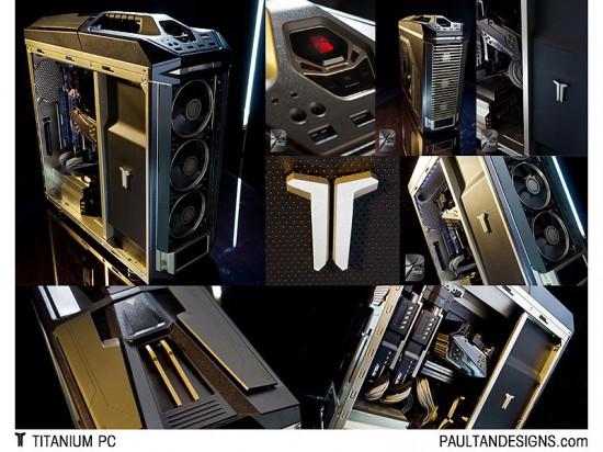 Фотоколлаж моддинг проекта Titanium PC