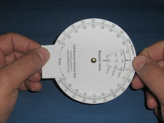 A basic view of the LED Resistor Selector Dial