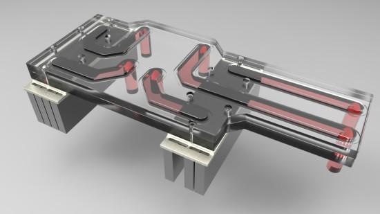 Планируемая конструкция для подвода жидкости к ватерблокам