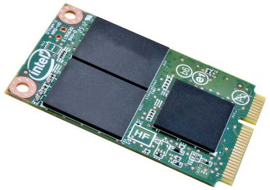 Общий вид твердотельного накопителя Intel SSD 525 Series с удаленной маркировкой чипов
