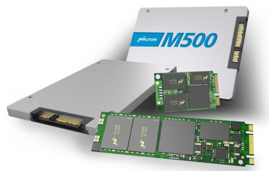 M500 solid-state drives will be available in different form-factors
