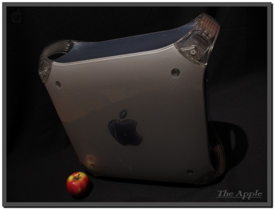 Вид сбоку на корпус компьютера Apple Power Mac G4