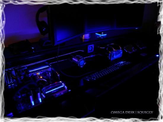 Вид проекта в темноте со включенной подсветкой